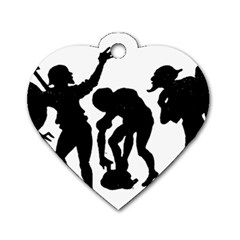 Seven Dwarfs Dog Tag Heart (two Sides) by athenastemple