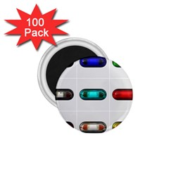 9 Power Button 1 75  Magnets (100 Pack)  by Simbadda