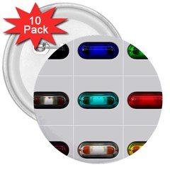 9 Power Button 3  Buttons (10 Pack)  by Simbadda