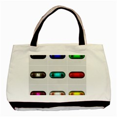 9 Power Button Basic Tote Bag (two Sides) by Simbadda