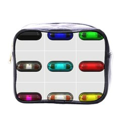 9 Power Button Mini Toiletries Bags by Simbadda