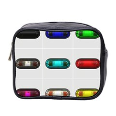 9 Power Button Mini Toiletries Bag 2 Side by Simbadda