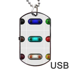 9 Power Button Dog Tag Usb Flash (two Sides) by Simbadda
