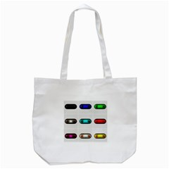 9 Power Button Tote Bag (white) by Simbadda