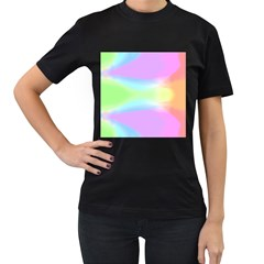 Abstract Background Colorful Women s T-shirt (black) (two Sided) by Simbadda