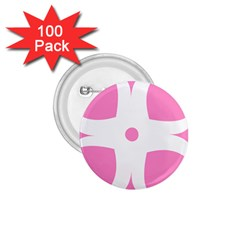 Love Heart Valentine Pink White Sweet 1 75  Buttons (100 Pack)  by Alisyart