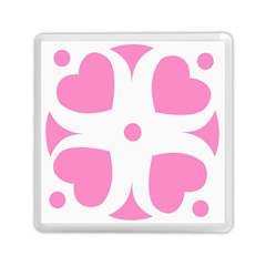 Love Heart Valentine Pink White Sweet Memory Card Reader (square)
