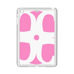 Love Heart Valentine Pink White Sweet Ipad Mini 2 Enamel Coated Cases