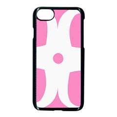 Love Heart Valentine Pink White Sweet Apple Iphone 7 Seamless Case (black) by Alisyart