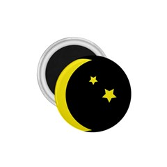 Moon Star Light Black Night Yellow 1 75  Magnets by Alisyart