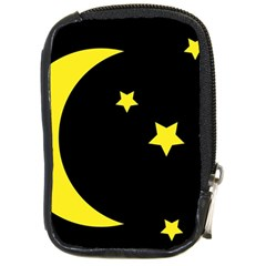 Moon Star Light Black Night Yellow Compact Camera Cases