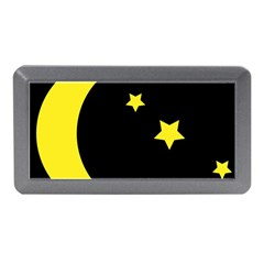 Moon Star Light Black Night Yellow Memory Card Reader (mini)
