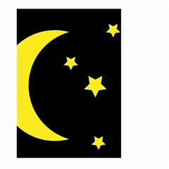 Moon Star Light Black Night Yellow Large Garden Flag (two Sides) by Alisyart