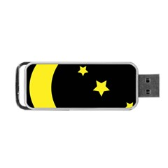 Moon Star Light Black Night Yellow Portable Usb Flash (two Sides)