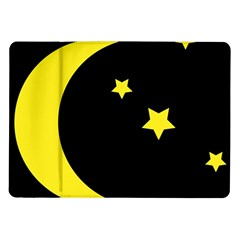 Moon Star Light Black Night Yellow Samsung Galaxy Tab 10 1  P7500 Flip Case