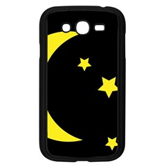Moon Star Light Black Night Yellow Samsung Galaxy Grand Duos I9082 Case (black) by Alisyart