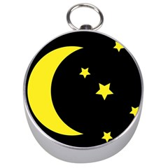 Moon Star Light Black Night Yellow Silver Compasses