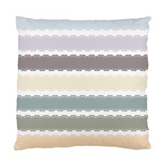 Muted Lace Ribbon Original Grey Purple Pink Wave Standard Cushion Case (two Sides)