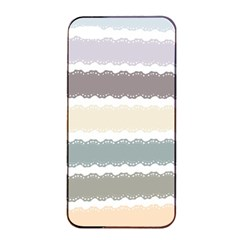 Muted Lace Ribbon Original Grey Purple Pink Wave Apple Iphone 4/4s Seamless Case (black) by Alisyart