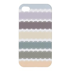 Muted Lace Ribbon Original Grey Purple Pink Wave Apple Iphone 4/4s Premium Hardshell Case