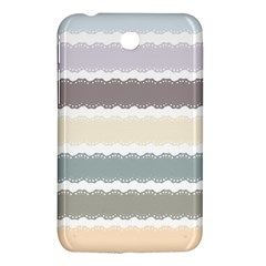 Muted Lace Ribbon Original Grey Purple Pink Wave Samsung Galaxy Tab 3 (7 ) P3200 Hardshell Case