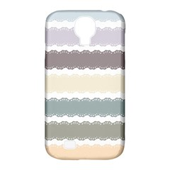 Muted Lace Ribbon Original Grey Purple Pink Wave Samsung Galaxy S4 Classic Hardshell Case (pc+silicone) by Alisyart