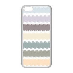 Muted Lace Ribbon Original Grey Purple Pink Wave Apple Iphone 5c Seamless Case (white) by Alisyart