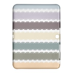 Muted Lace Ribbon Original Grey Purple Pink Wave Samsung Galaxy Tab 4 (10 1 ) Hardshell Case  by Alisyart