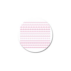 Pink Lace Borders Pink Floral Flower Love Heart Golf Ball Marker (10 Pack) by Alisyart