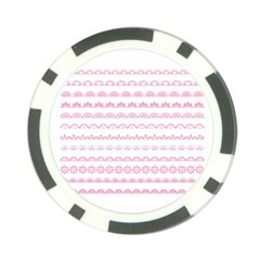 Pink Lace Borders Pink Floral Flower Love Heart Poker Chip Card Guard (10 Pack)