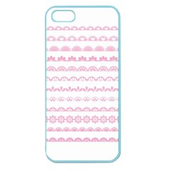 Pink Lace Borders Pink Floral Flower Love Heart Apple Seamless Iphone 5 Case (color)