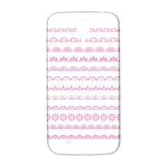 Pink Lace Borders Pink Floral Flower Love Heart Samsung Galaxy S4 I9500/i9505  Hardshell Back Case by Alisyart