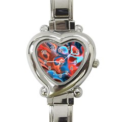 Abstract Fractal Heart Italian Charm Watch by Simbadda