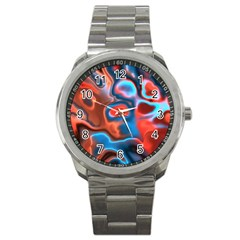 Abstract Fractal Sport Metal Watch by Simbadda
