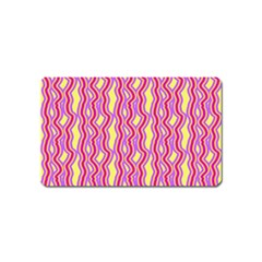 Pink Yelllow Line Light Purple Vertical Magnet (name Card)