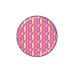 Pink Yelllow Line Light Purple Vertical Hat Clip Ball Marker (4 Pack) by Alisyart
