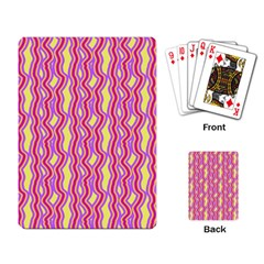 Pink Yelllow Line Light Purple Vertical Playing Card by Alisyart