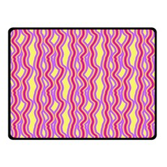Pink Yelllow Line Light Purple Vertical Fleece Blanket (small)