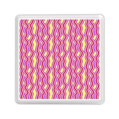 Pink Yelllow Line Light Purple Vertical Memory Card Reader (square)  by Alisyart
