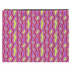 Pink Yelllow Line Light Purple Vertical Cosmetic Bag (xxxl)  by Alisyart