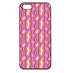 Pink Yelllow Line Light Purple Vertical Apple Iphone 5 Seamless Case (black) by Alisyart