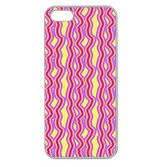 Pink Yelllow Line Light Purple Vertical Apple Seamless Iphone 5 Case (clear)