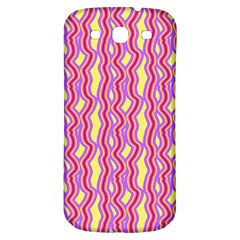Pink Yelllow Line Light Purple Vertical Samsung Galaxy S3 S Iii Classic Hardshell Back Case by Alisyart