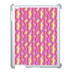 Pink Yelllow Line Light Purple Vertical Apple Ipad 3/4 Case (white)