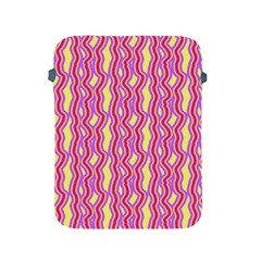Pink Yelllow Line Light Purple Vertical Apple Ipad 2/3/4 Protective Soft Cases by Alisyart