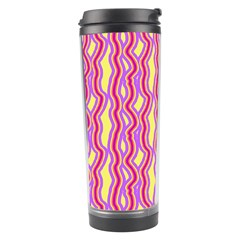 Pink Yelllow Line Light Purple Vertical Travel Tumbler by Alisyart
