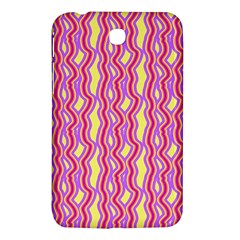 Pink Yelllow Line Light Purple Vertical Samsung Galaxy Tab 3 (7 ) P3200 Hardshell Case  by Alisyart