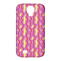 Pink Yelllow Line Light Purple Vertical Samsung Galaxy S4 Classic Hardshell Case (pc+silicone) by Alisyart