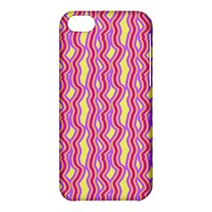 Pink Yelllow Line Light Purple Vertical Apple Iphone 5c Hardshell Case by Alisyart