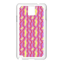 Pink Yelllow Line Light Purple Vertical Samsung Galaxy Note 3 N9005 Case (white) by Alisyart